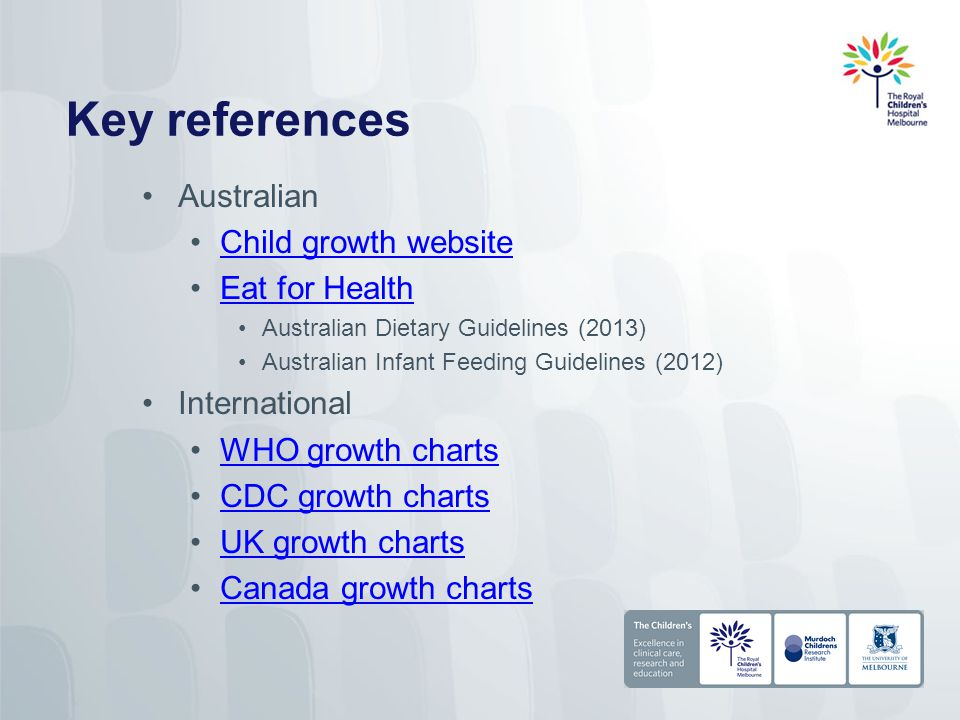 Child Growth Charts In Australia Murdoch Childrens Research