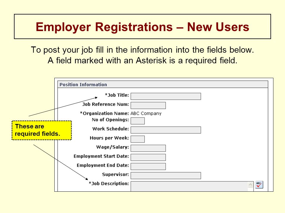 To post your job fill in the information into the fields below.