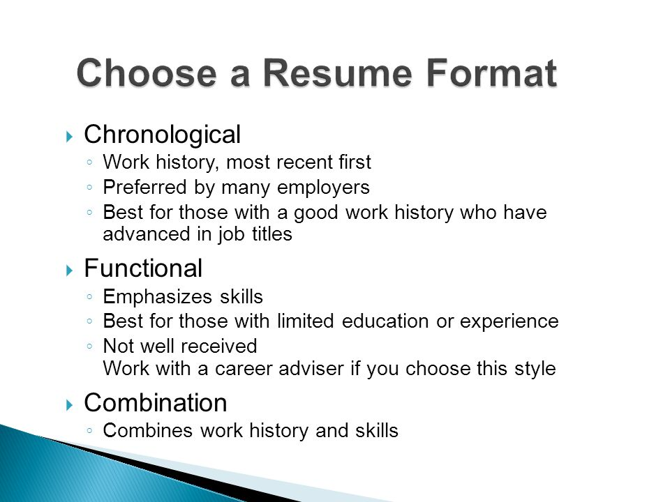  Target your job.  Choose a format.  Draft your resume.  Edit and critique.