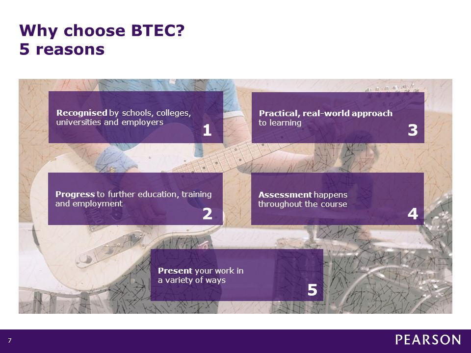 Why choose BTEC.