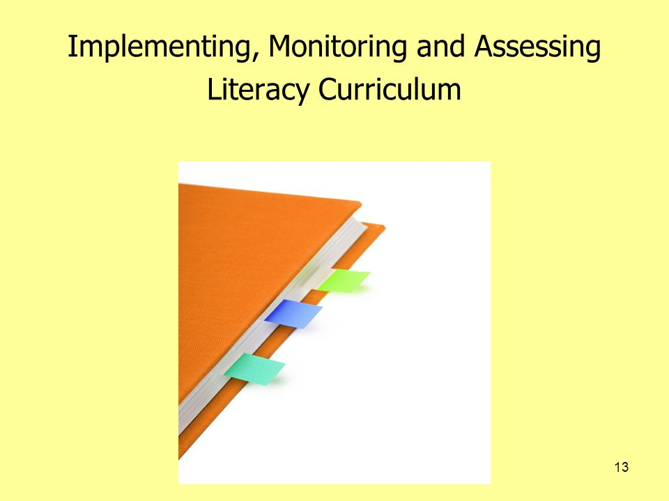 13 Implementing, Monitoring and Assessing Literacy Curriculum