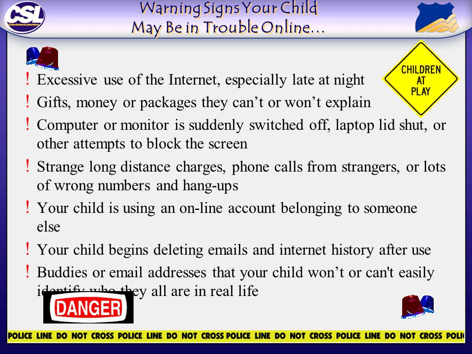 Warning Signs Your Child May Be in Trouble Online… .