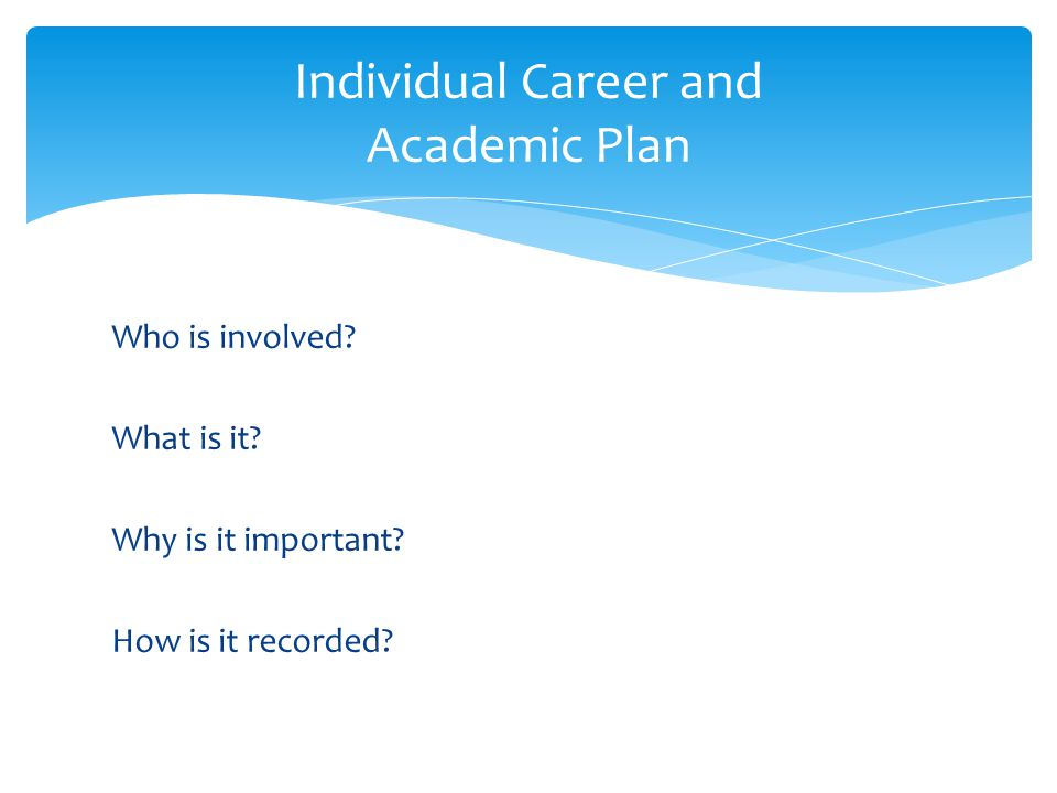 Individual Career And Academic Plan 10 Th Grade ICAP Pre Assessment
