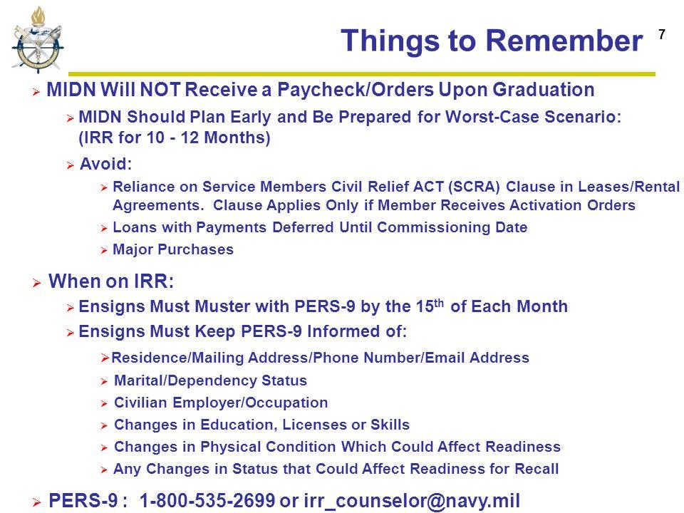 Naval Service Training Command Midshipmen Brief Yg12 Nrotc Irr Rdml