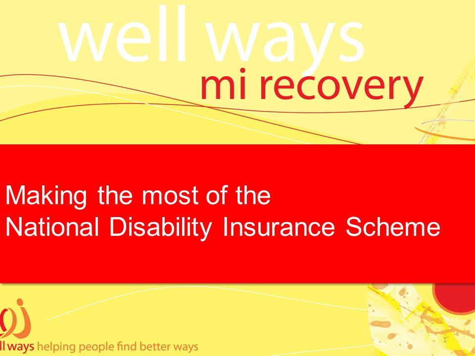 Making the most of the National Disability Insurance Scheme Making the most of the National Disability Insurance Scheme 1
