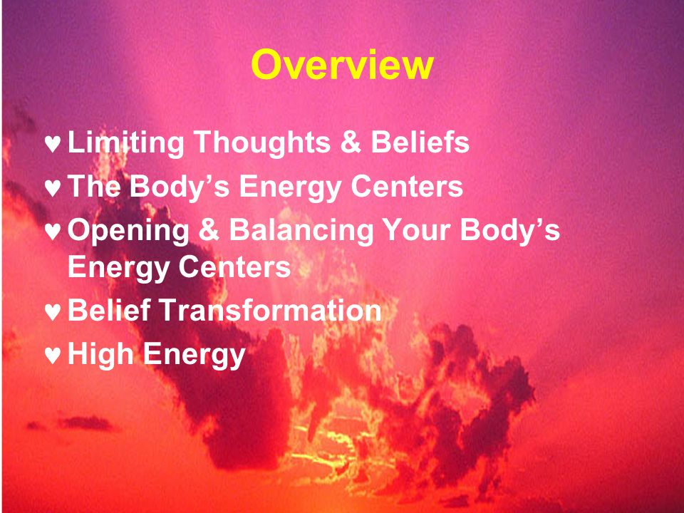 7 Steps to Peak Performance Energy & Stamina. Overview Limiting ...