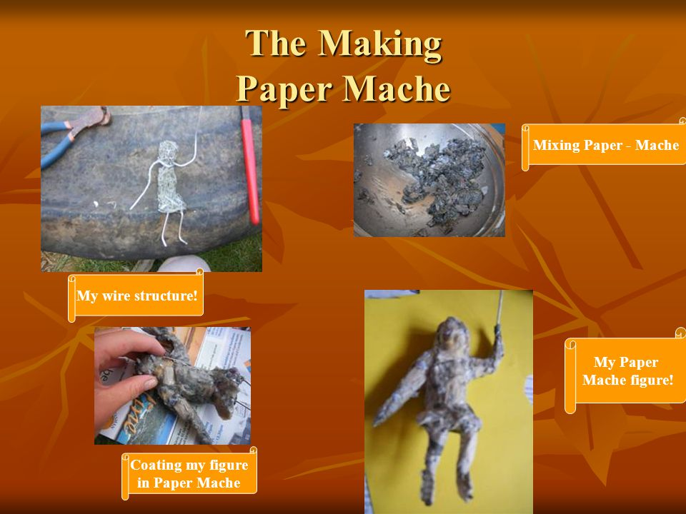 The Making Paper Mache My wire structure.