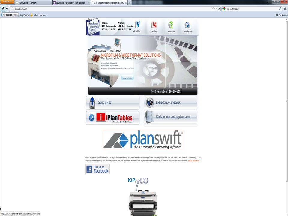 Websites that offer a Landing Page to give information on PlanSwift product features and benefits.