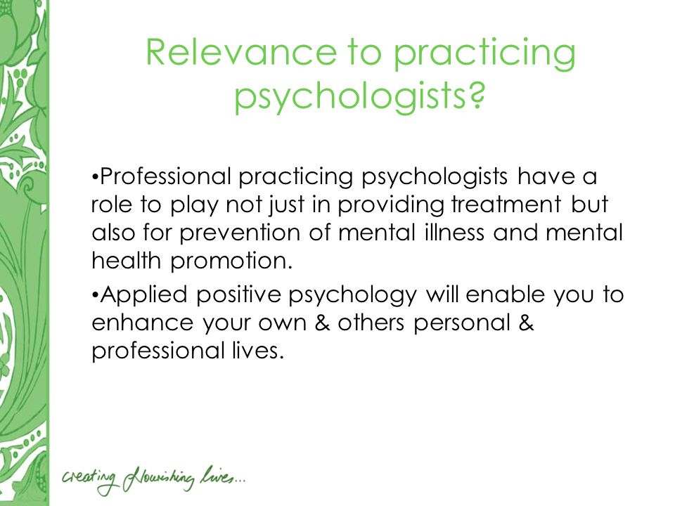 Relevance to practicing psychologists.