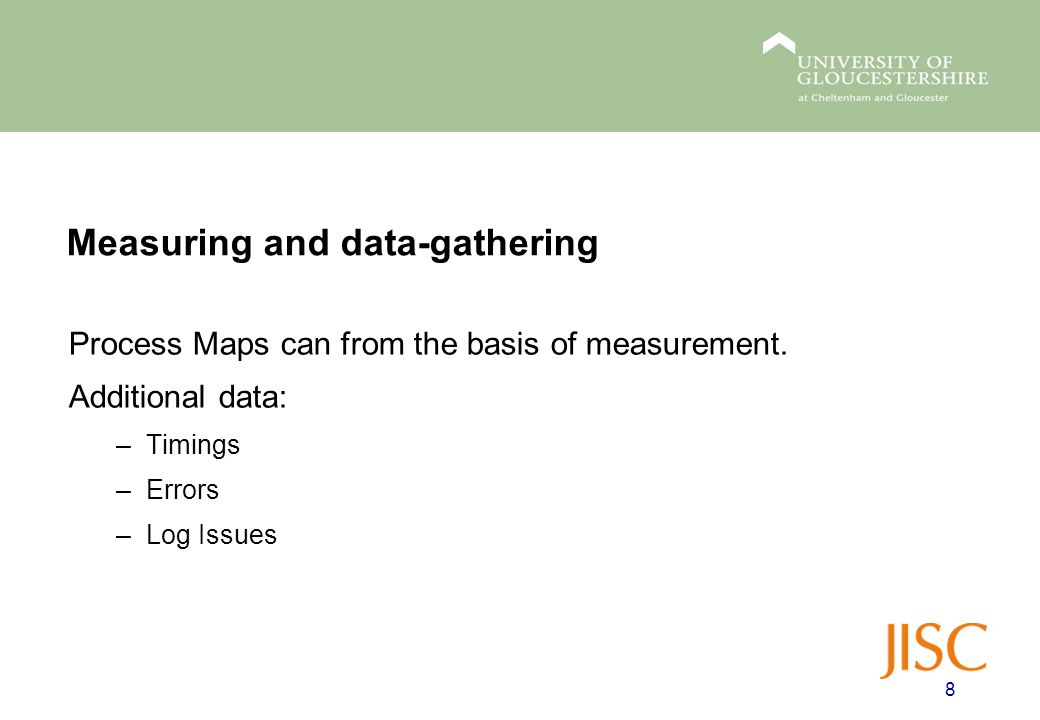Process Maps can from the basis of measurement.