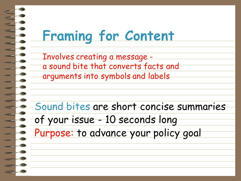 3 Provide information to educate the community 3 Serve as a call to action 3 Create organizational visibility 3 Put a face on an issue 3 Establish an individual as an expert 3 Help frame the issue 3 Create sympathy and support for a issue 3 Build the files for future reference 3 Use as a mailing piece to other community groups Example of Objectives