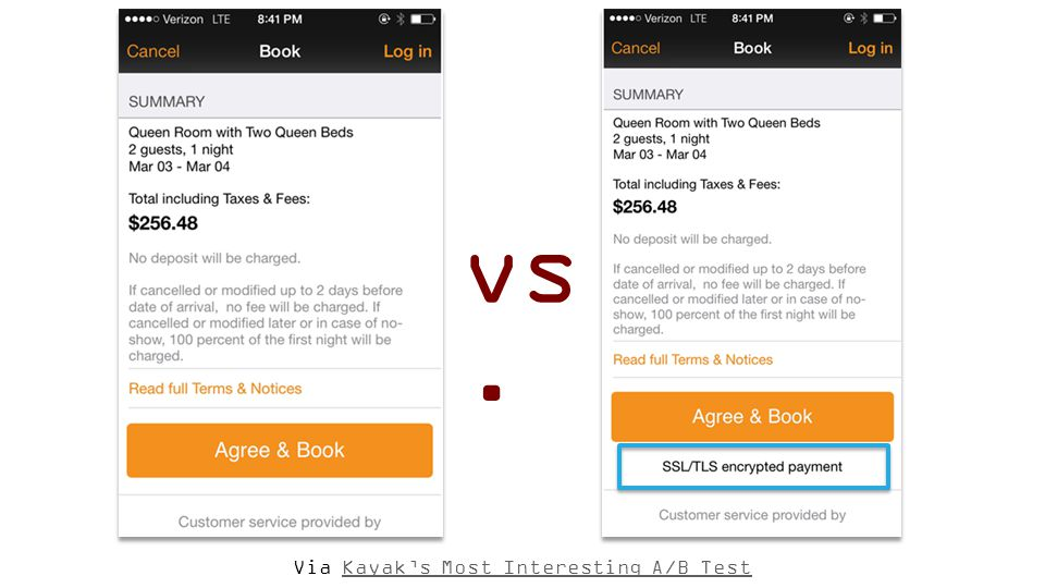 Via Kayak's Most Interesting A/B TestKayak's Most Interesting A/B Test vs.