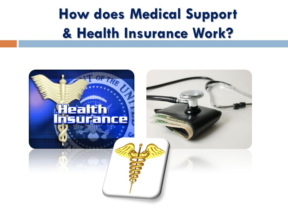 How does Medical Support & Health Insurance Work