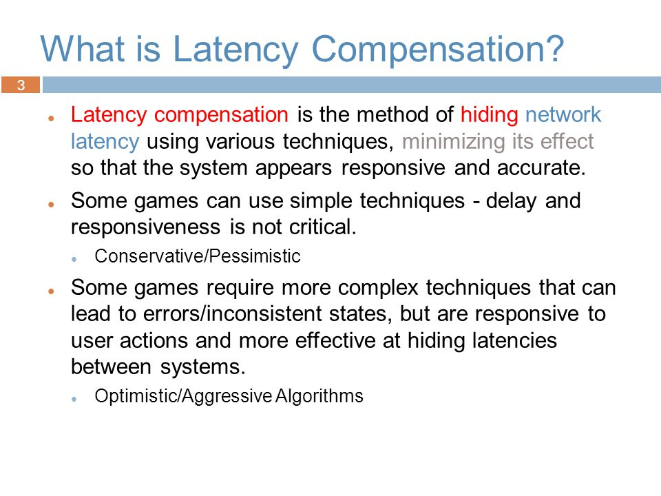 Introduction to Networked Graphics Latency Compensation