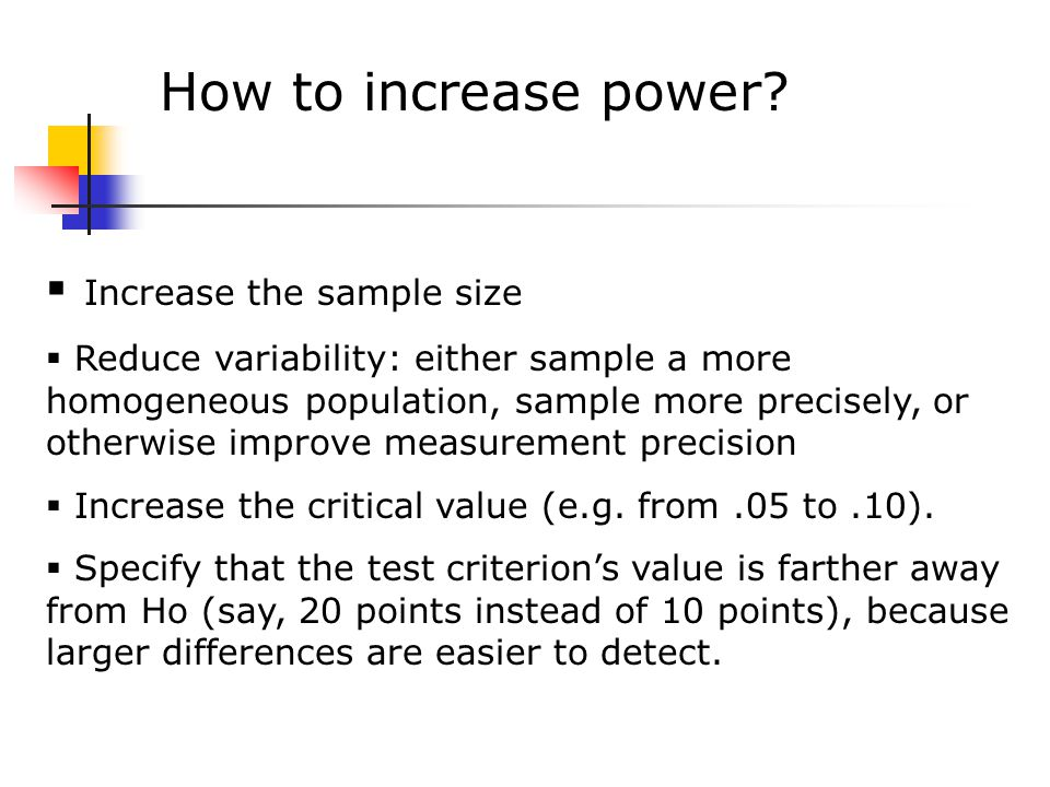 How to increase power.