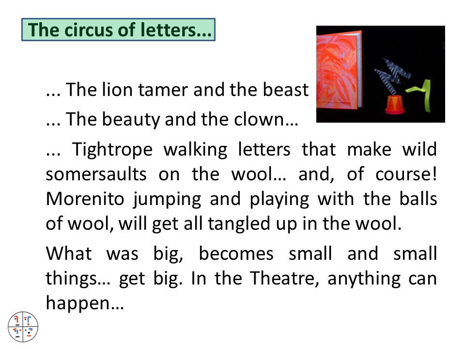 The circus of letters...... The lion tamer and the beast...