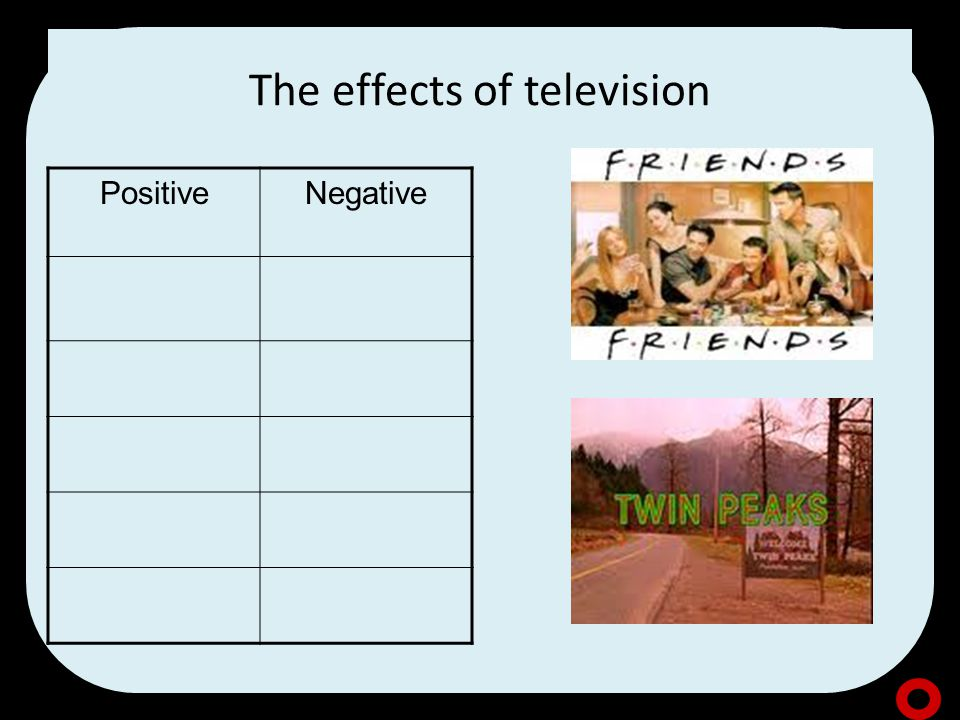 The effects of television PositiveNegative