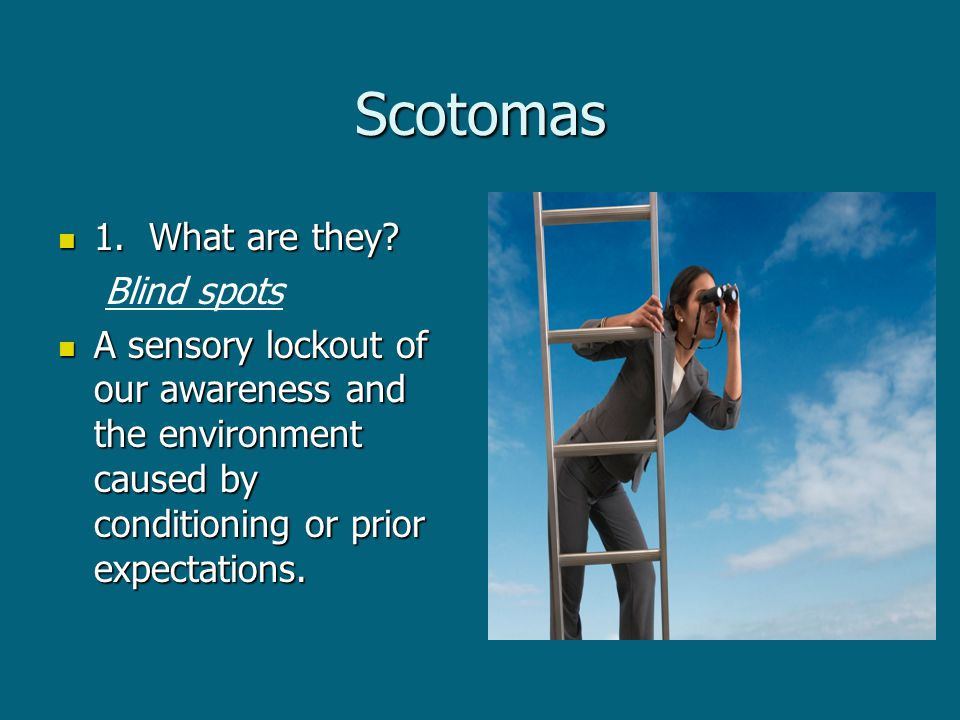 Scotomas 1. What are they. 1. What are they.