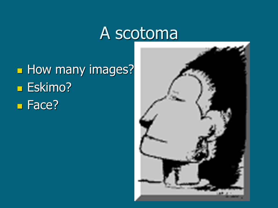 A scotoma How many images How many images Eskimo Eskimo Face Face