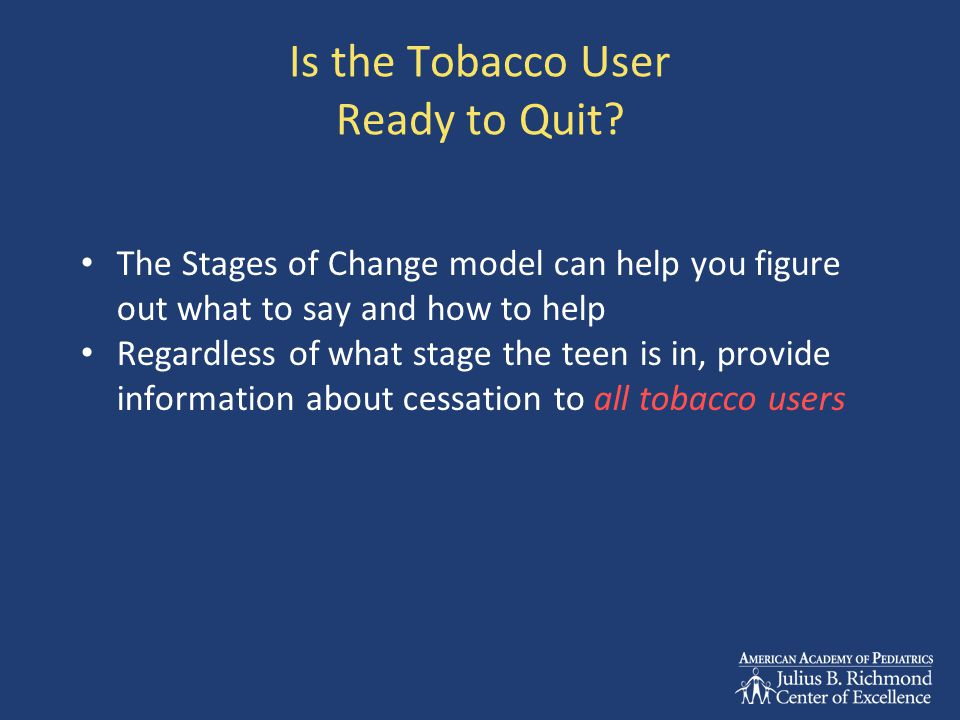 Is the Tobacco User Ready to Quit.