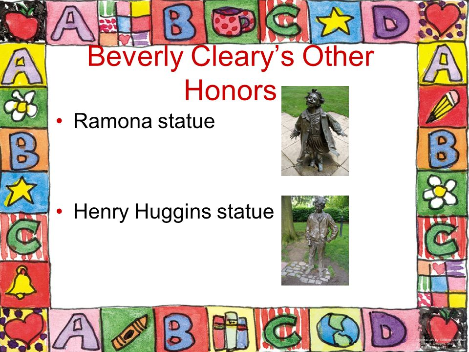 Beverly Cleary's Other Honors Ramona statue Henry Huggins statue