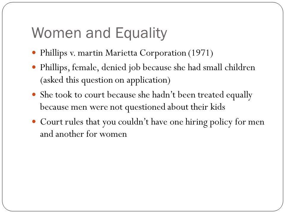 Women and Equality Phillips v.