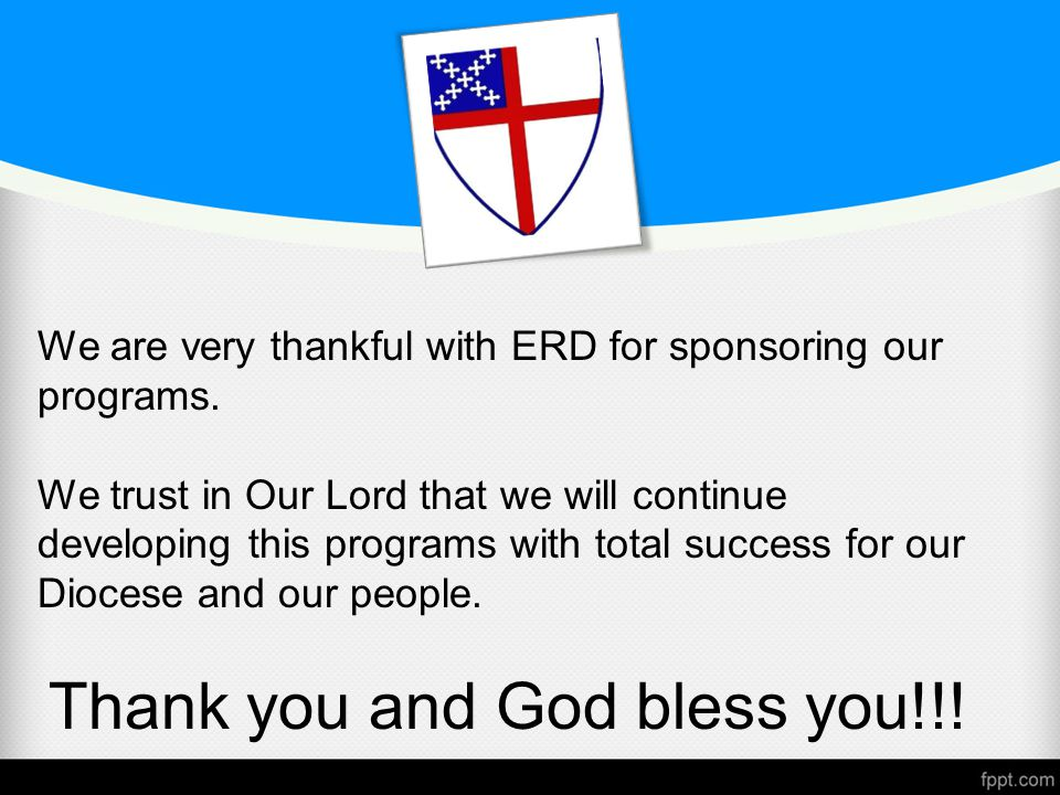 We are very thankful with ERD for sponsoring our programs.