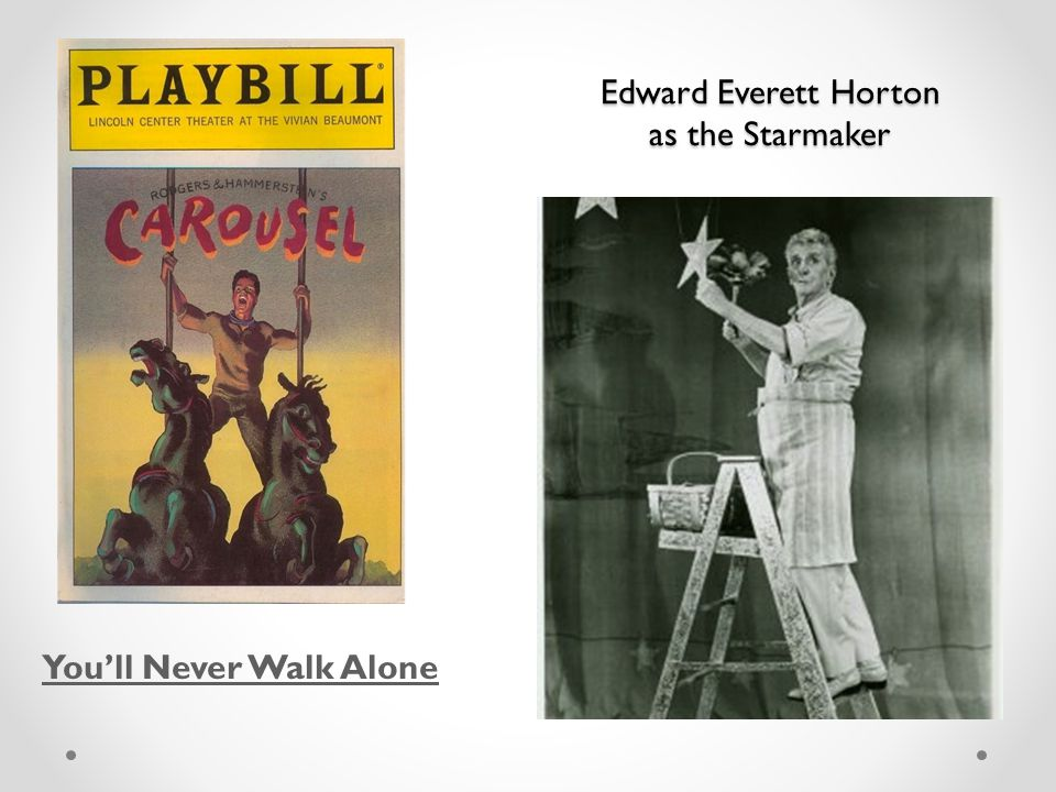 Edward Everett Horton as the Starmaker You'll Never Walk Alone