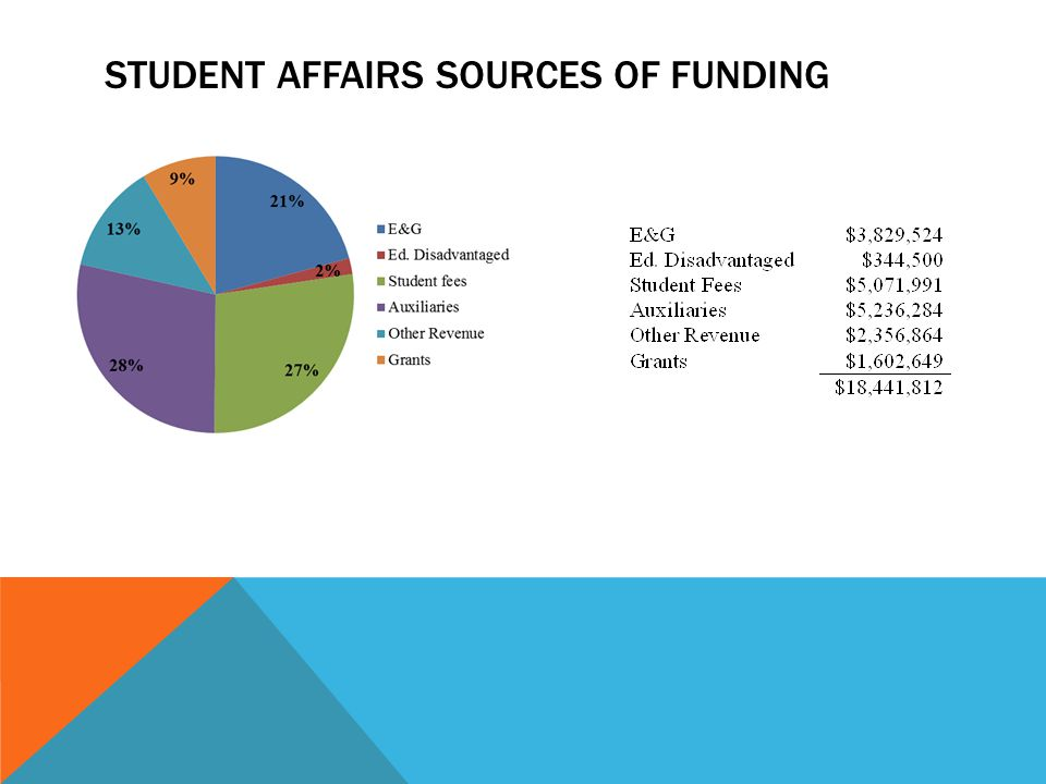 STUDENT AFFAIRS SOURCES OF FUNDING