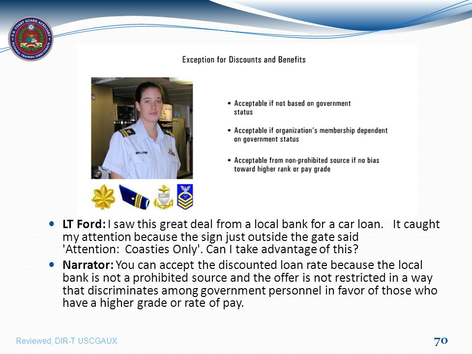 LT Ford: I saw this great deal from a local bank for a car loan.