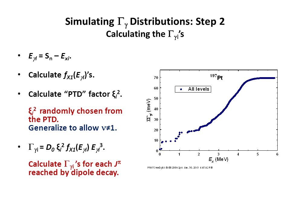 Simulating   Distributions: Step 2 Calculating the   i 's E  i = S n – E xi.