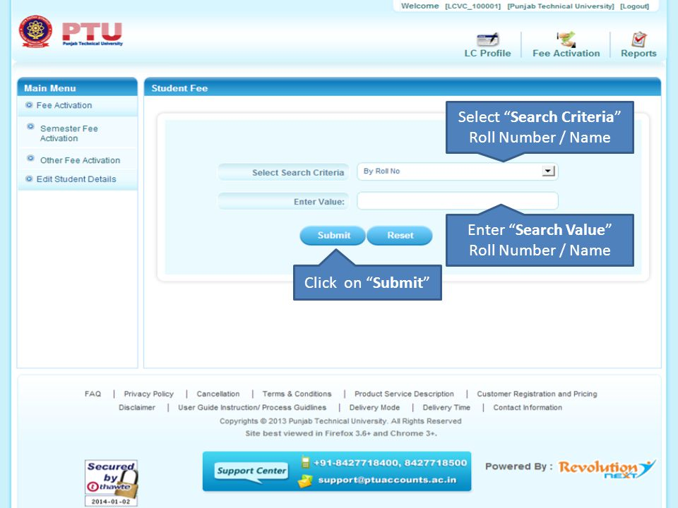 DISTANCE EDUCATION PROGRAM (ODL) Learning Center Portal WELCOME TO