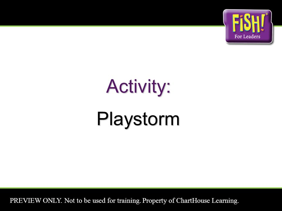 Activity:Playstorm