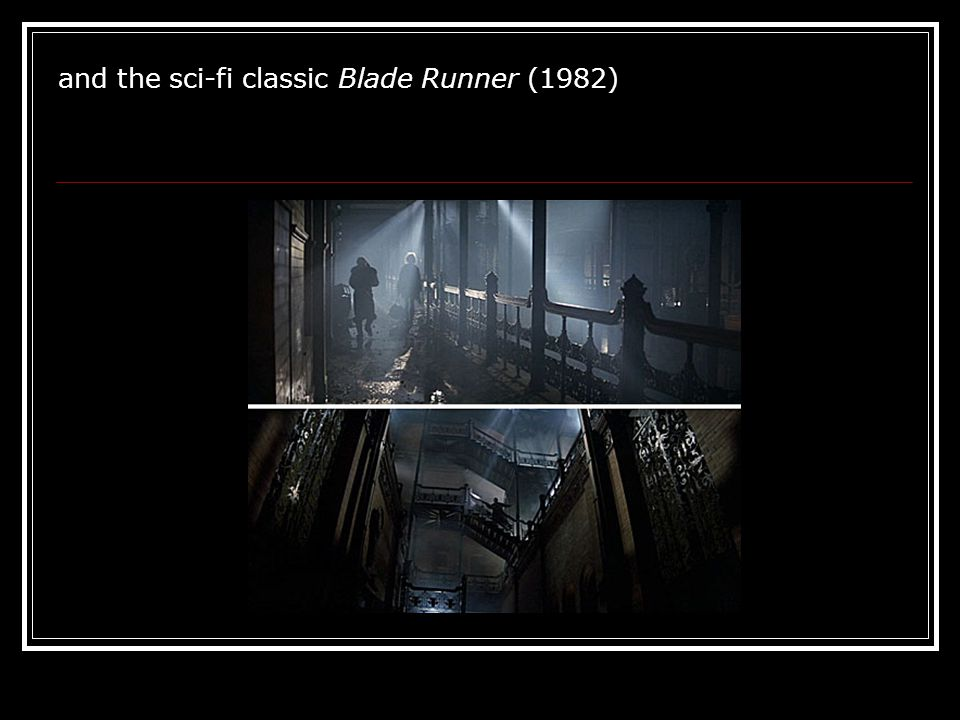 and the sci-fi classic Blade Runner (1982)