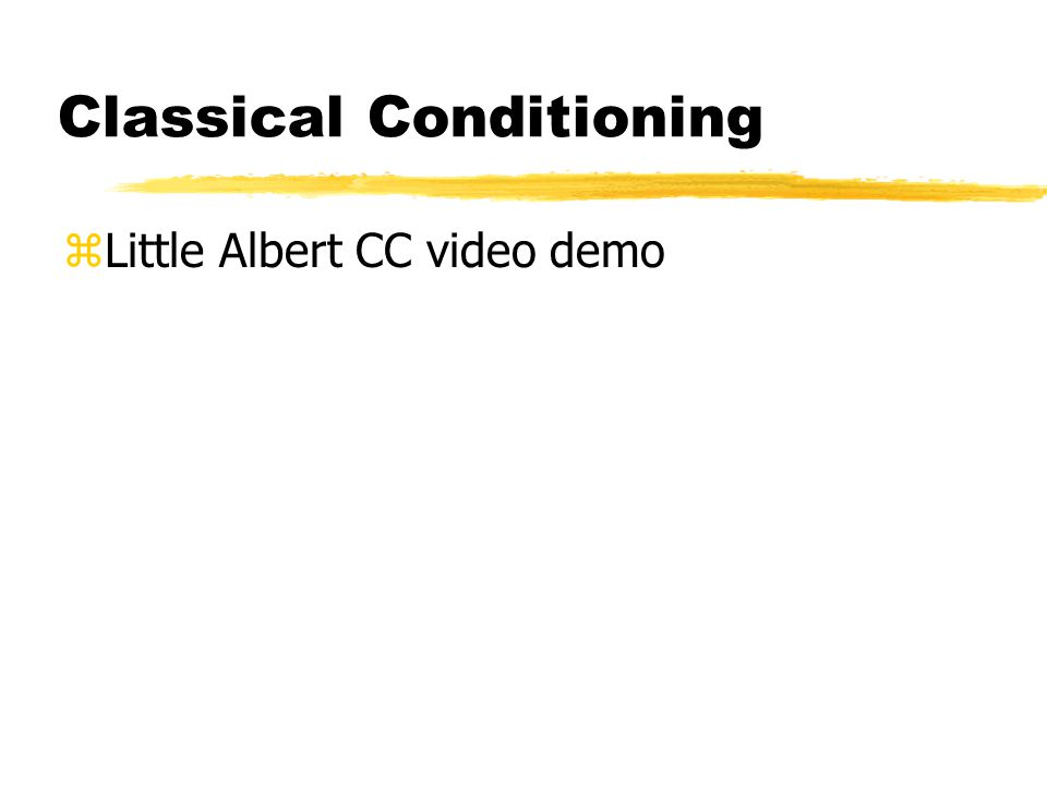 Classical Conditioning zLittle Albert CC video demo