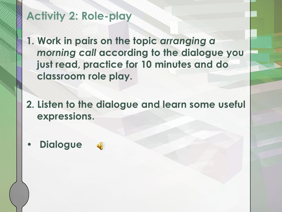 Activity 2: Role-play 1.