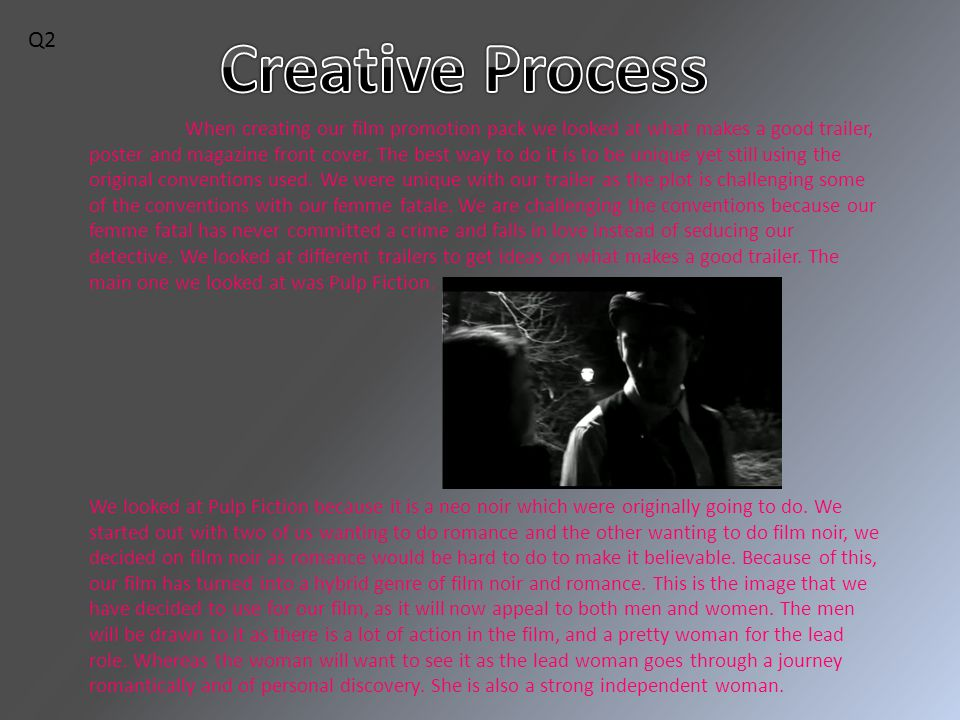 When creating our film promotion pack we looked at what makes a good trailer, poster and magazine front cover.