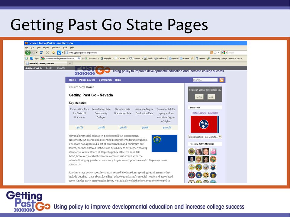 Getting Past Go State Pages