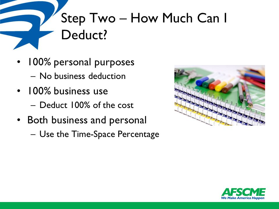 Step Two – How Much Can I Deduct.