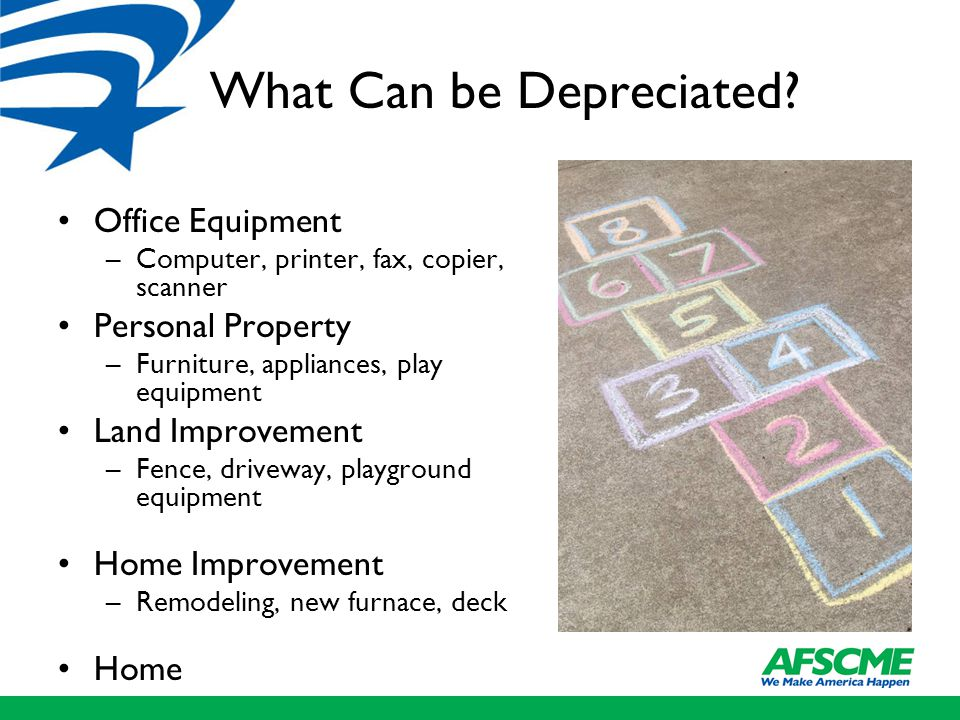 What Can be Depreciated.