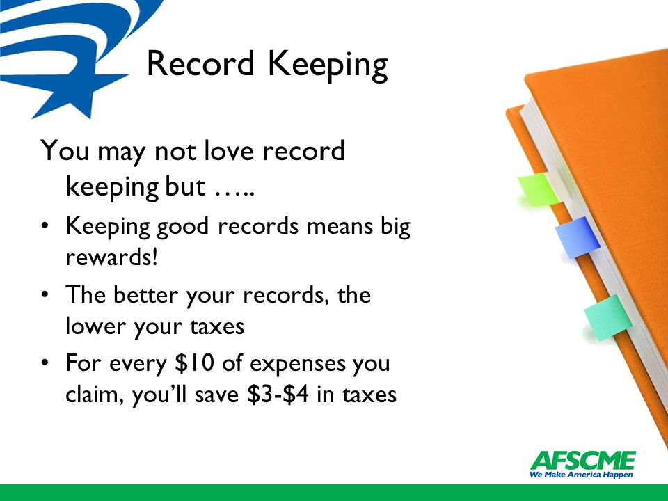 Record Keeping You may not love record keeping but …..