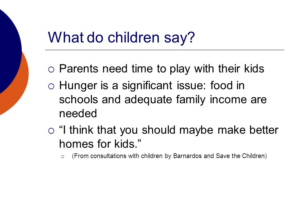 What do children say.