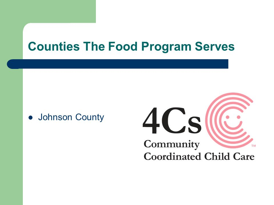 Counties The Food Program Serves Johnson County