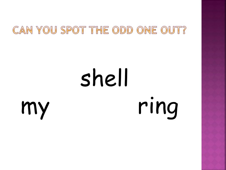 shell my ring