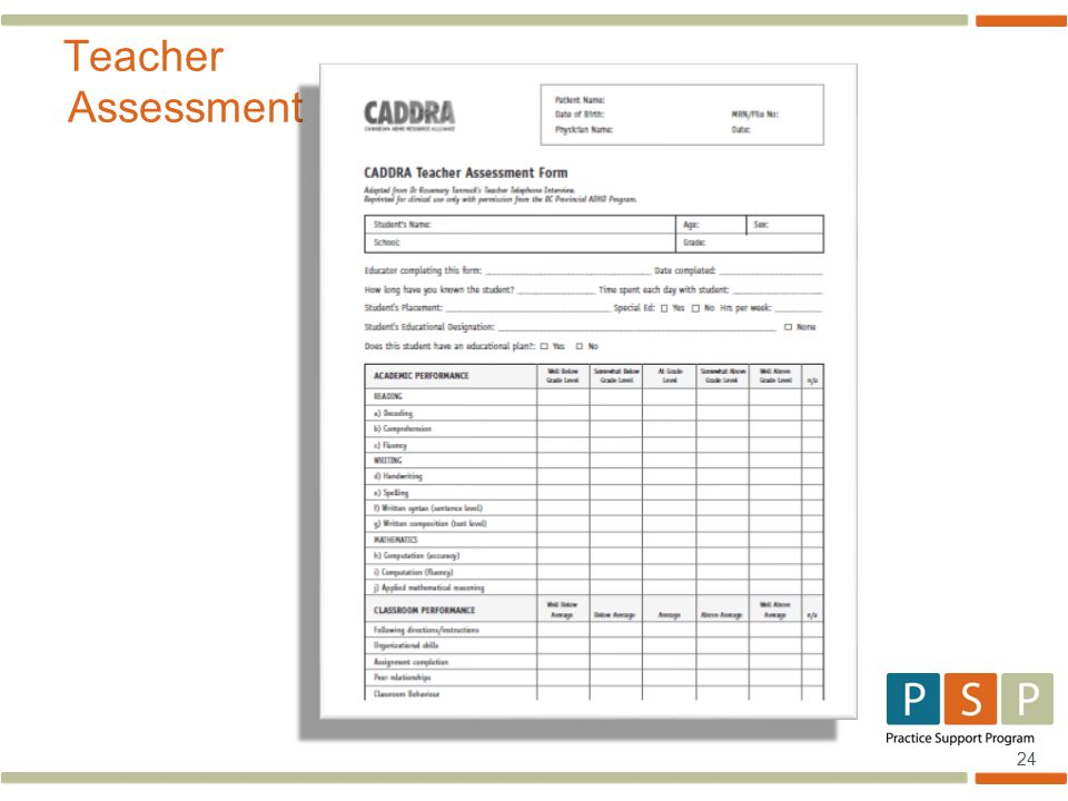 24 Teacher Assessment