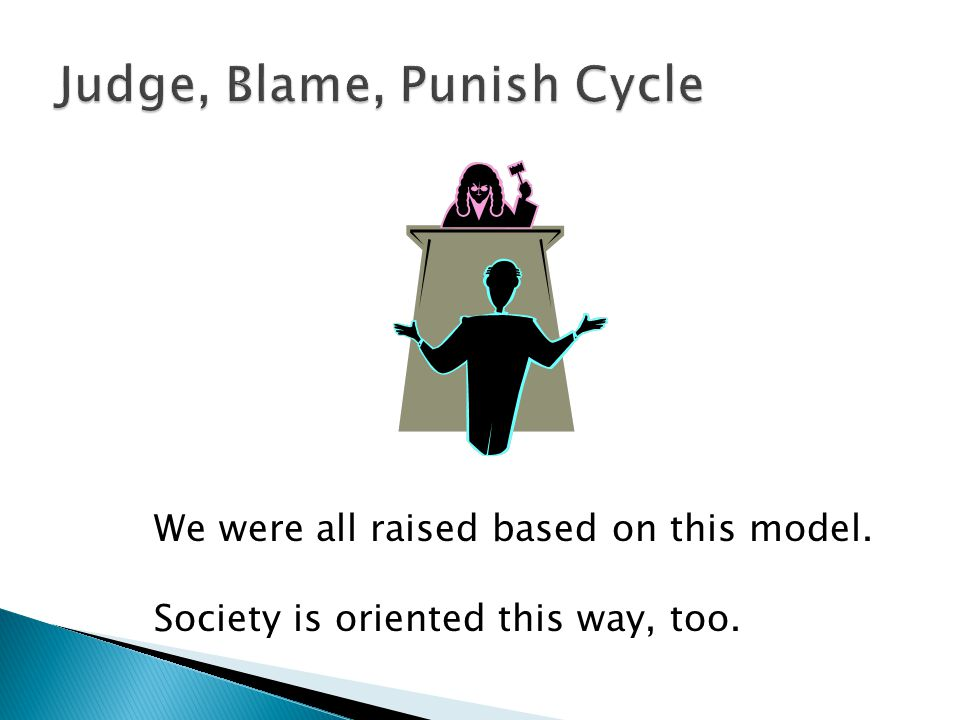 We were all raised based on this model. Society is oriented this way, too.