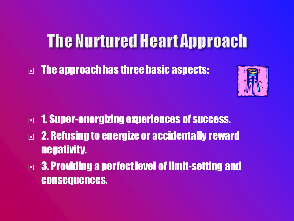  The approach has three basic aspects:  1. Super-energizing experiences of success.