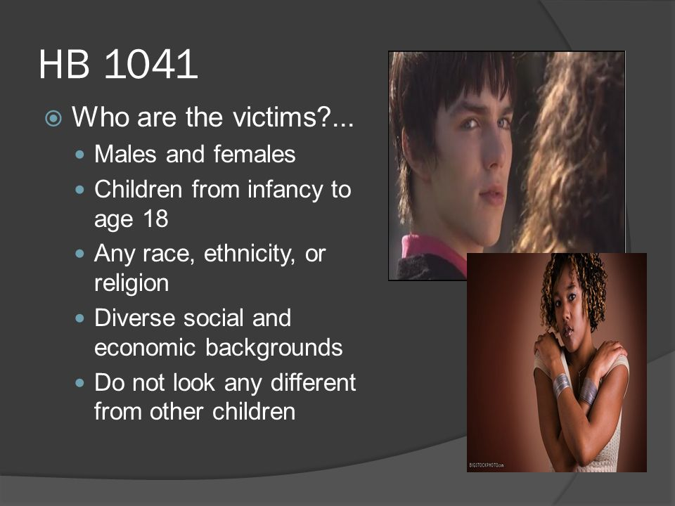 HB 1041  Who are the victims ...