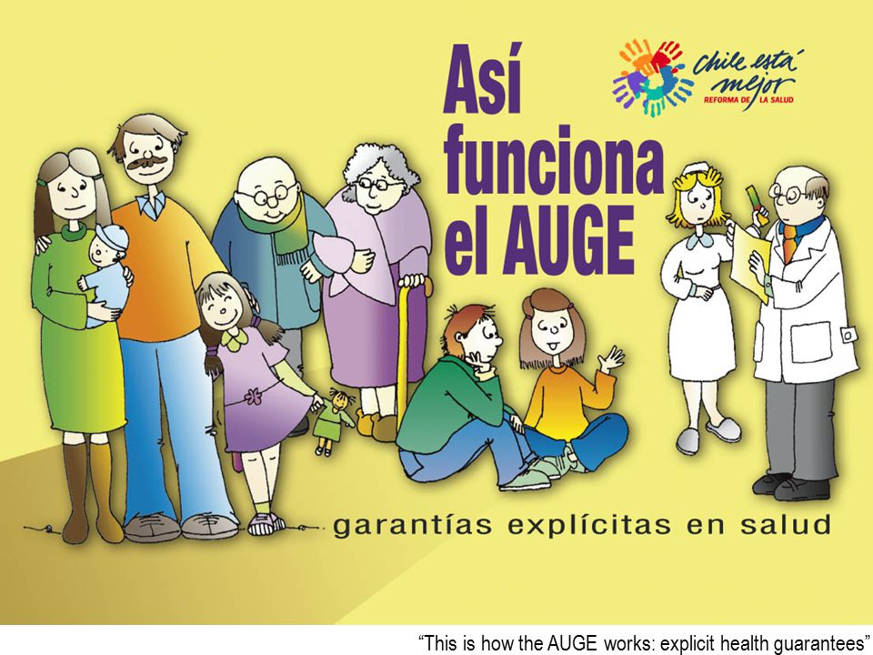This is how the AUGE works: explicit health guarantees