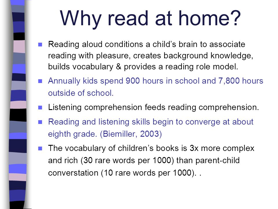 Why read at home.